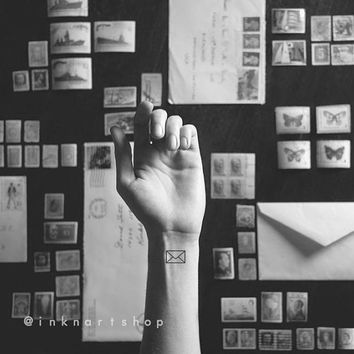 4pcs Tiny Love Letter tattoo - InknArt Temporary Tattoo - wrist quote tattoo body sticker fake tattoo wedding tattoo small tattoo