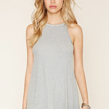 Striped Trapeze Mini Dress | Forever 21 - 2000220670