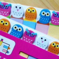 owl sticky note cute bird stick marker owl sticky paper note Business Agenda memo stick animal sticky memo diary wildlife bird index paper