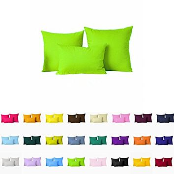 "Decorative Pillows Cover/Cushion Case (18""x18"", Lime Green)"