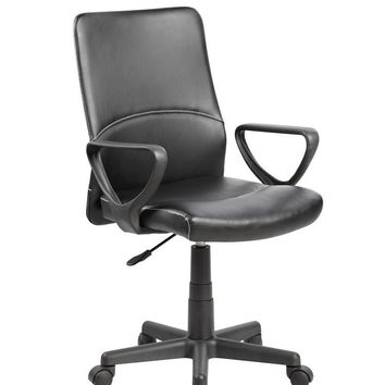 United Chair UOC-8048-BK Modern Ergonomic Mesh Medium Back Computer Desk Task Office Chair 8010 8048-BK