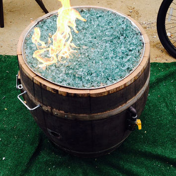 Authentic Wine Barrel Fire Pit-Whiskey Barrel Fire Pit
