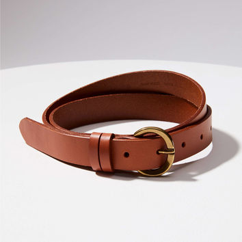 Double Loop Leather Belt | LOFT