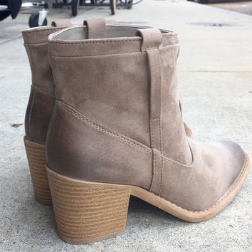 An Ankle Boho Bootie in Beige