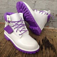 Custom White Timberland Boots FREE SHIPPING