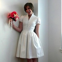 Emmeline bridal gown in cotton sateen by AnnabelAndRuby on Etsy