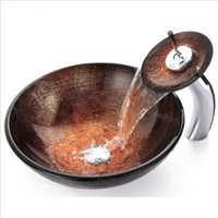 KRAUS GV-580 Copper Illusion Glass Vessel Sink