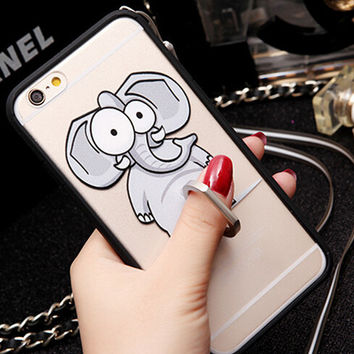 Cute Elephant creative case for iPhone 6 6s creative case iPhone 6 6s Plus Gift-80