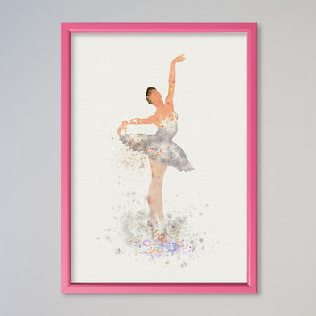 Ballet Dance Ballerina Poster dancing illustration Watercolor Art Print