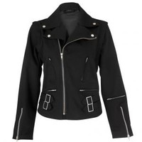- Dead Threads Detachable Sleeves Women's Biker Jacket - Attitude Clothing
