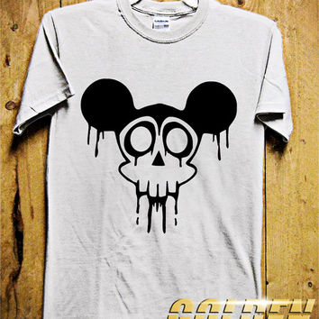 Mickey Skull Men T-Shirt - Mickey Mouse T-Shirt -Skull T-Shirt - Disney Design for Men T-Shirt (Various All Color Available)
