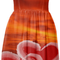 Red Hearts Summer Dress created by ErikaKaisersot | Print All Over Me
