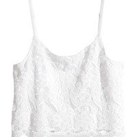 H&M Short Lace Camisole Top $24.99