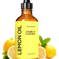 Eve Hansen Premium LEMON ESSENTIAL OIL ★ BIG 4 Oz ★ SAFE FOR INGESTION ★ 100% Pure Cold Pressed from Real Lemons ★ No Additives ★ Detox Your Body and Boost Fat Burning Naturally BUY WITH CONFIDENCE!