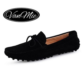 2017 Men Loafers Luxury Men's Leather Shoes Man Casual Flats Shoes Male Genuine Leather Boat Shoes Moccasins plus size 38-45