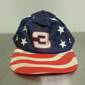 6e0ce606 Vintage 90's Dale Earnhard American Flag Stars and Stripes Snapb