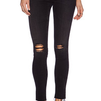 AG Adriano Goldschmied Legging Ankle Raw Hem in Black