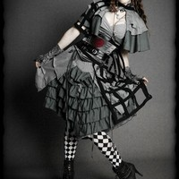 ALICE en Emprisonne - ALICE IN WONDERLAND COSTUME Dress, Cape, Corset, Cage