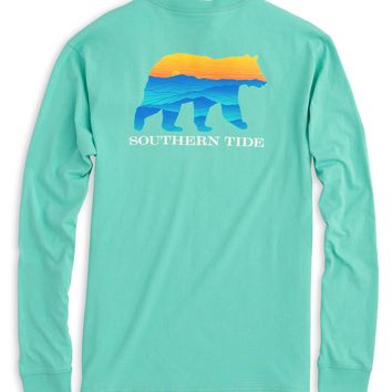 Southern Tide Blue Ridge Bear L/S Tee - Mint