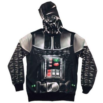 Star Wars Darth Vader Sith Lord Costume Sublimated Fleece Adult Hoodie