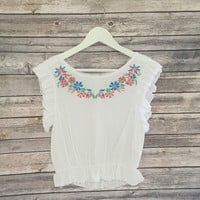 Ava Short Sleeve Boho Top