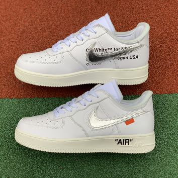 [Free Shipping ]OFF-WHITE x Air-Force 1 Complex Con AF1 AO4297-100  Basketball Shoes