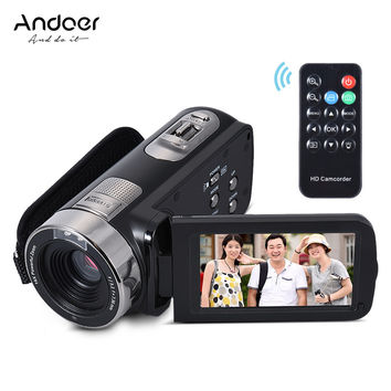 """Andoer HDV-302S Full HD 1080P Digital Video Camera 3"""" LCD Touch Screen 16X 20MP Anti-shake Camcorder DV With Remote Shutter"""