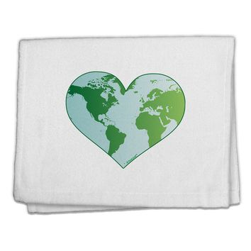 "World Globe Heart 11""x18"" Dish Fingertip Towel"