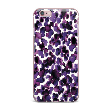 "Ebi Emporium ""Giraffe Spots - Purple"" Lavender iPhone Case"