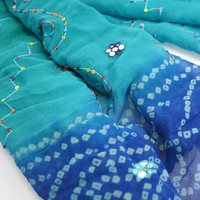 Turquoise Sequin Scarf