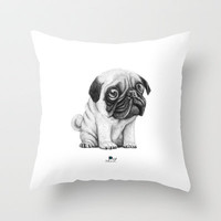 Pug Pug 01 Throw Pillow by Juanpablo Castromora | Society6