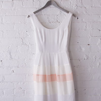 WHITE SILK VINTAGE INSPIRED DRESS