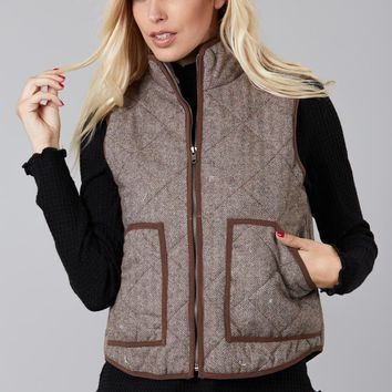 In the Trend Herringbone Vest