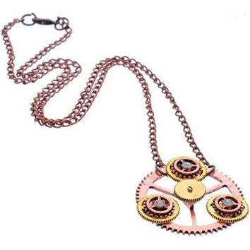 Steampunk-The-Turning Necklace