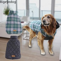 Bigeyedog Dog Jacket Winter Dog Clothes Coat Reversible Clothing for Dog Pug French Bulldog Clothes Husky Golden Retriever Coat