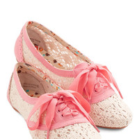 ModCloth Strolling on a Sunday Flat in Pink