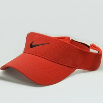 NIKE Fashion Casual Outdoor Running Cap Sport Cool Golf Baseball Cap Hat Red