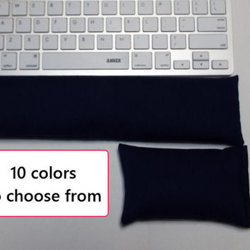Solid color Keyboard rest and or WRIST REST set  - coral, red, purple, aqua, mint, navy, black, gray, or green  office Desk Accessories