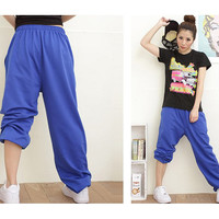 New Cotton Women Men Dance HipHop Sport Pants 1pcs