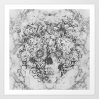 Bookmatched Skull Art Print by Kristy Patterson Design