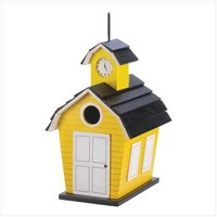 Gifts & Decor Yellow School Daze Bird House (Discontinued by Manufacturer)