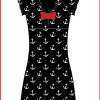 * Anchor Dress w/ Bow Tie Live Fast carries an array of brands such as Ed Hardy, Stiletto Custom Leather Wear, Vivienne Westwood, Keanan Duffy and Sub-Mission along with many other independent designers