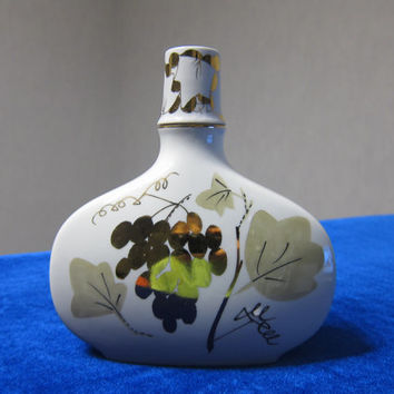 beautiful porcelain rare lomonosov bottle decanter marked lfz 1970