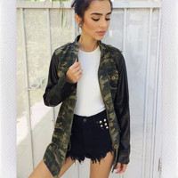 JUST IN TIME PARKA- CAMO