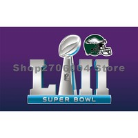 super bowl LII FLAG WITH Philadelphia Eagles HELMET flag