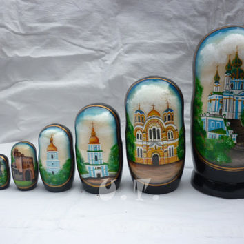 Matryoshka doll, 7 pcs, Wooden dolls, Ukrainian gifts, only handmade D7