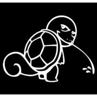 "Pokemon Squirtle Calvin Peeing Vinyl Die Cut Decal Sticker 5.50"" White"