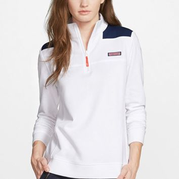 Women's Vineyard Vines 'America Shep' Quarter Zip Pullover