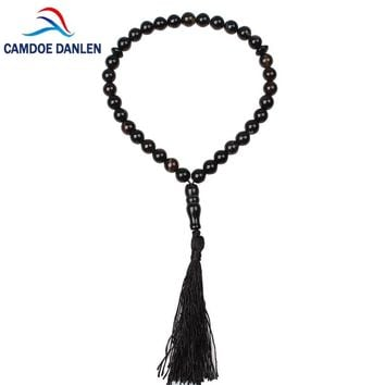 5 Style Natural Stone Black Onyx Bracelet 33 Islamic Muslim Tasbih Prayer beads Rosary Misbaha Charms Jewelry Famliy Friend Gift