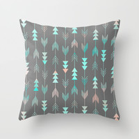 Aztec Arrows Throw Pillow by Sunkissed Laughter